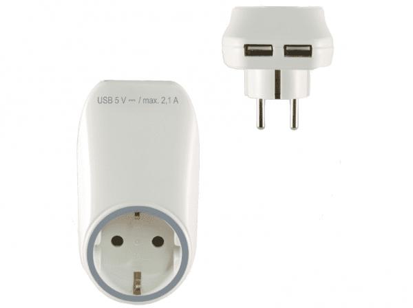 Hálózati-aljzat-USB-töltőaljzatokkal